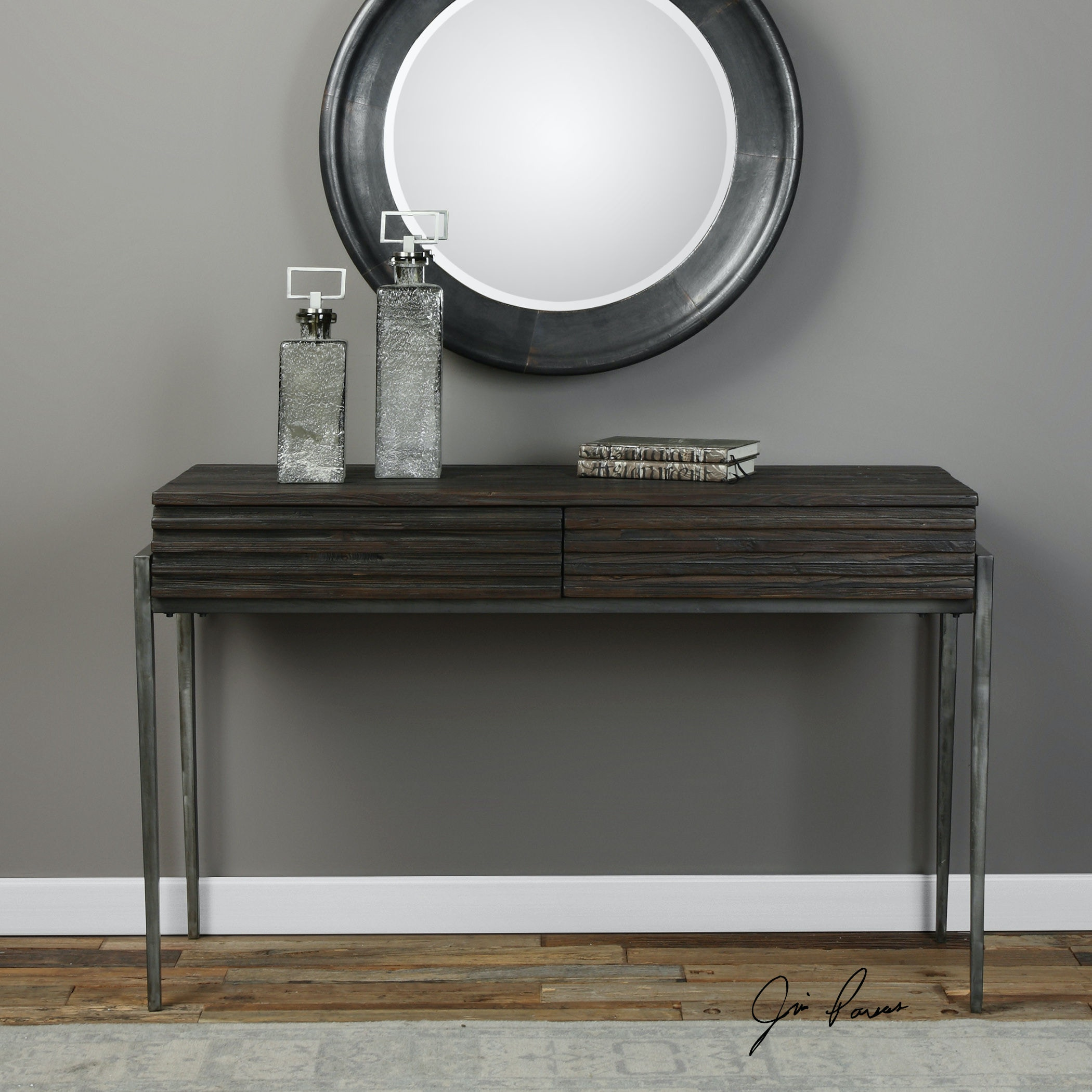 Uttermost Morrigan Industrial Console Table 24746