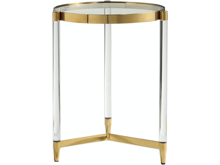 Uttermost Living Room Kellen Glass Accent Table 24748