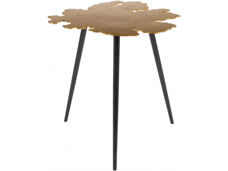 Swell Uttermost Living Room Linden Gold Leaf Accent Table Ut24862 Walter E Smithe Furniture Design Caraccident5 Cool Chair Designs And Ideas Caraccident5Info