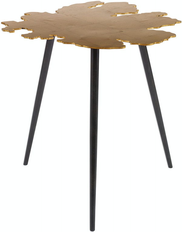 Groovy Uttermost Living Room Linden Gold Leaf Accent Table 24862 Squirreltailoven Fun Painted Chair Ideas Images Squirreltailovenorg