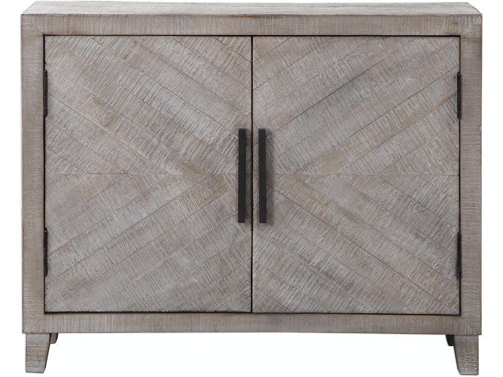 Uttermost Living Room Adalind White Washed Accent Cabinet Ut24873 Walter E Smithe Furniture Design