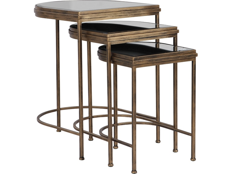 Uttermost Living Room India Nesting Tables Set 3 24908