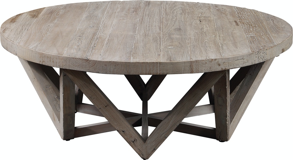 Uttermost Living Room Kendry Reclaimed Wood Coffee Table 24928 Carol House Furniture Maryland