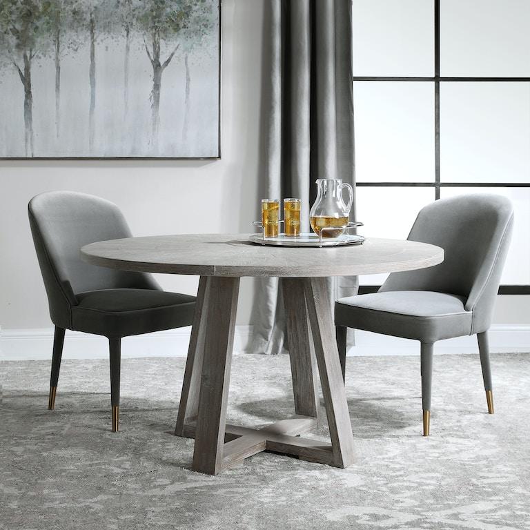 furnish home dining room gidran gray dining table 24952