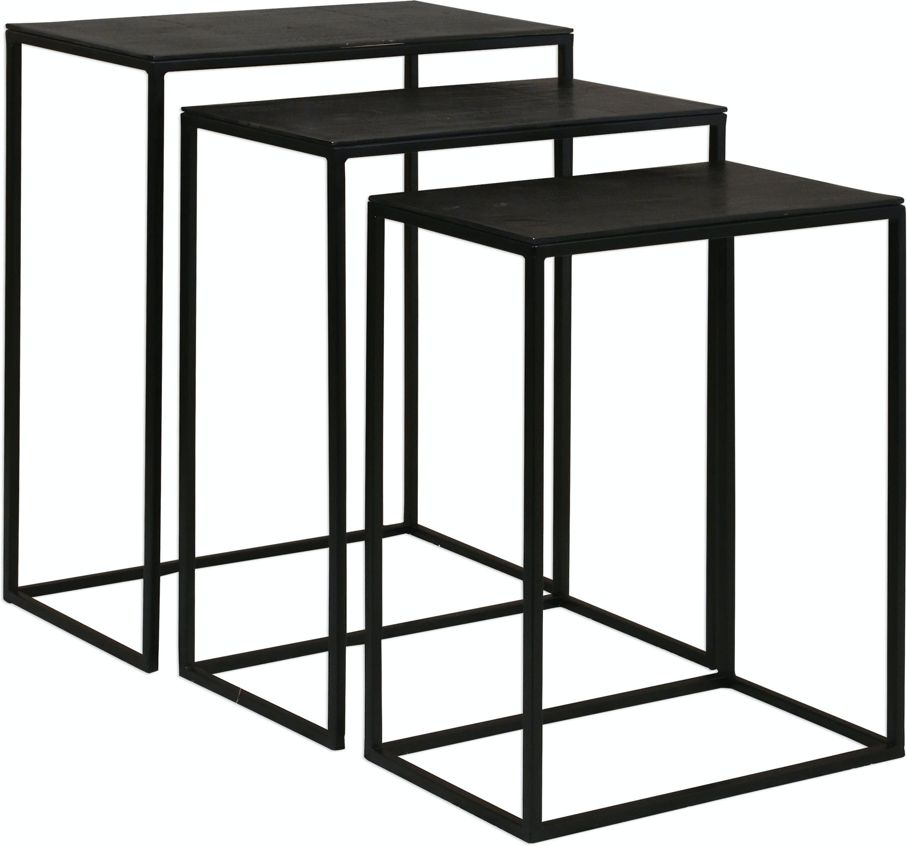 Uttermost Living Room Coreene Iron Nesting Tables S 3 25040 High Point Furniture Jasper And