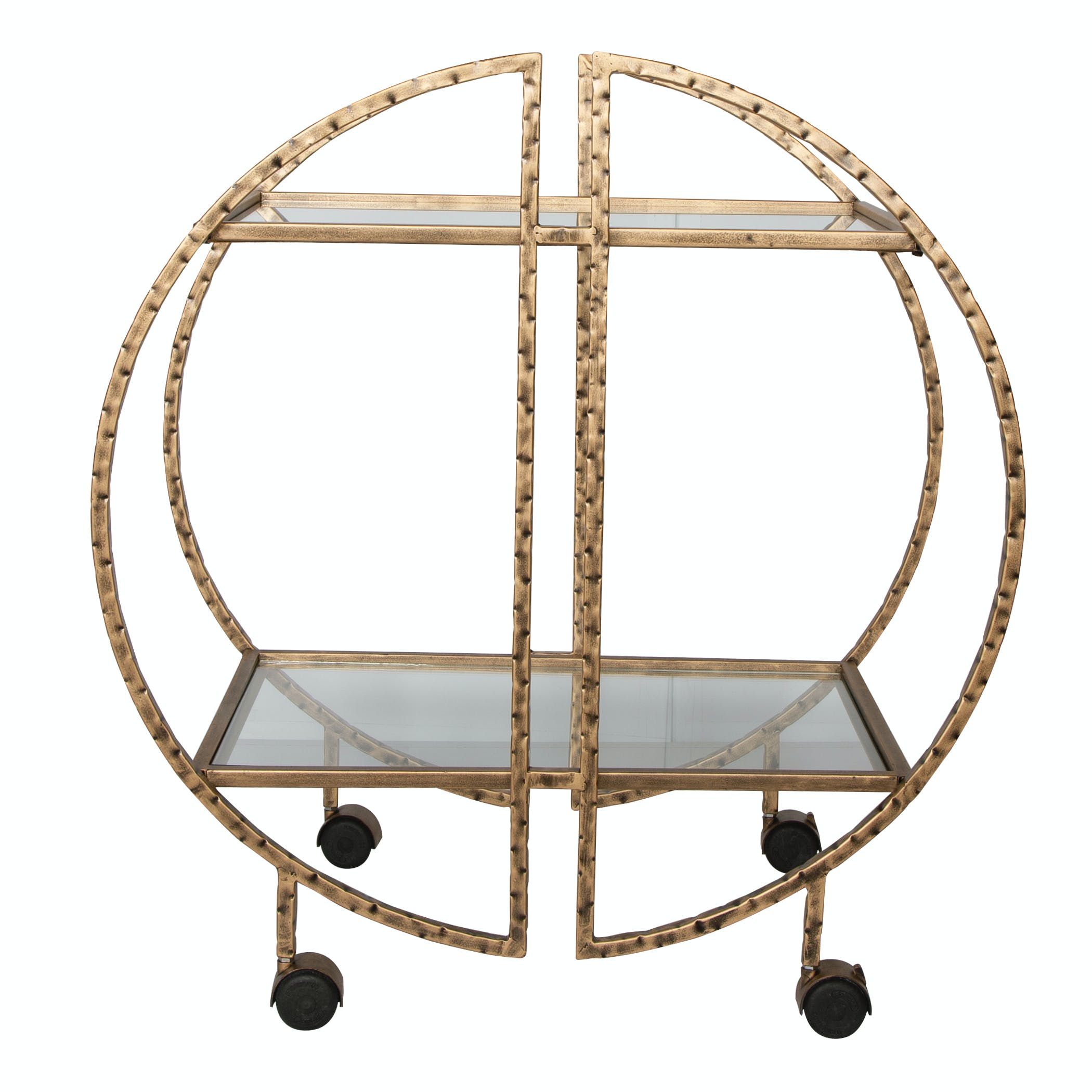 Uttermost Accessories Zelina Gold Bar Cart 25065 Howard Lorton Furniture Design Denver Co