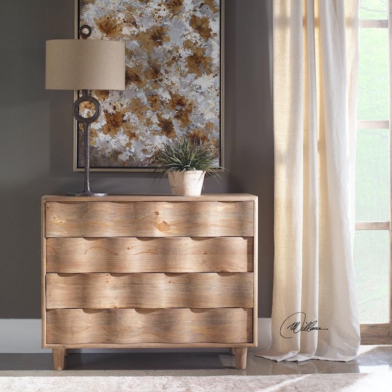 Uttermost Bedroom Crawford Light Oak Accent Chest 25337 Bears