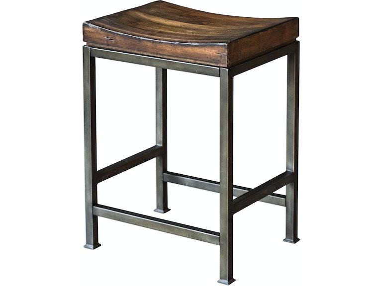 Pleasant Uttermost Bar And Game Room Beck Wood Counter Stool 25441 Inzonedesignstudio Interior Chair Design Inzonedesignstudiocom