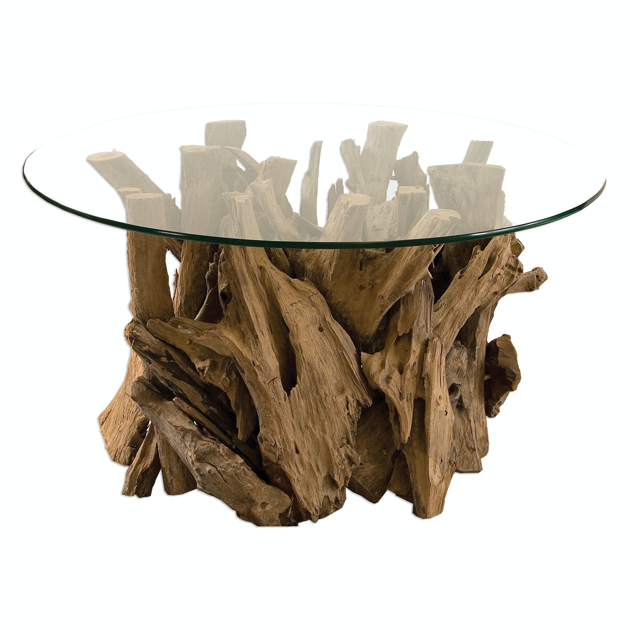 Uttermost Living Room Driftwood Glass Top Cocktail Table 25519