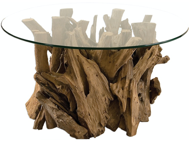 Uttermost Driftwood Gl Top Tail Table 25519