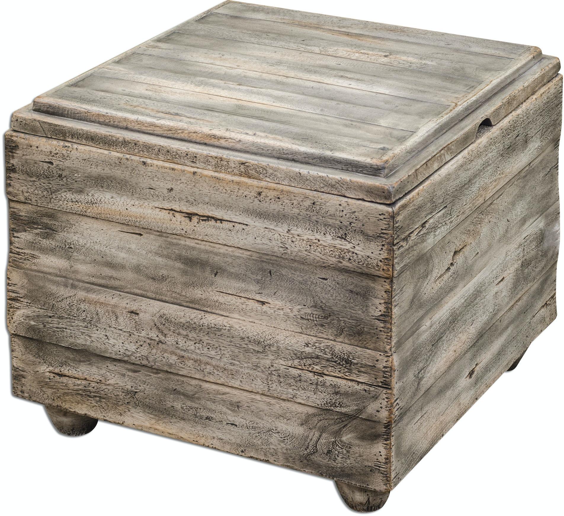 Uttermost Living Room Avner Wooden Cube Table