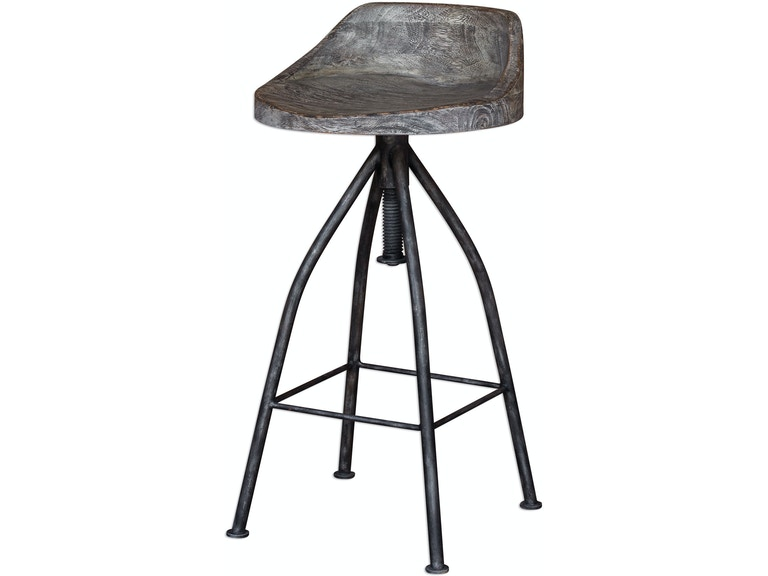 Uttermost Kairu Wooden Bar Stool 25726