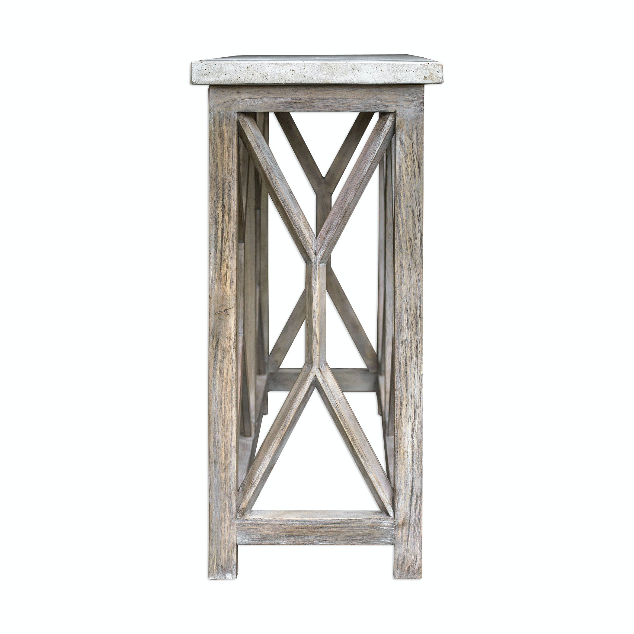 Uttermost Catali Ivory Stone Console Table 25811