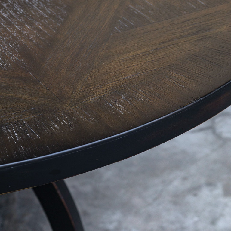 Dining Room Tables San Antonio: Uttermost Dining Room Maiva Round Black Dining Table 25861