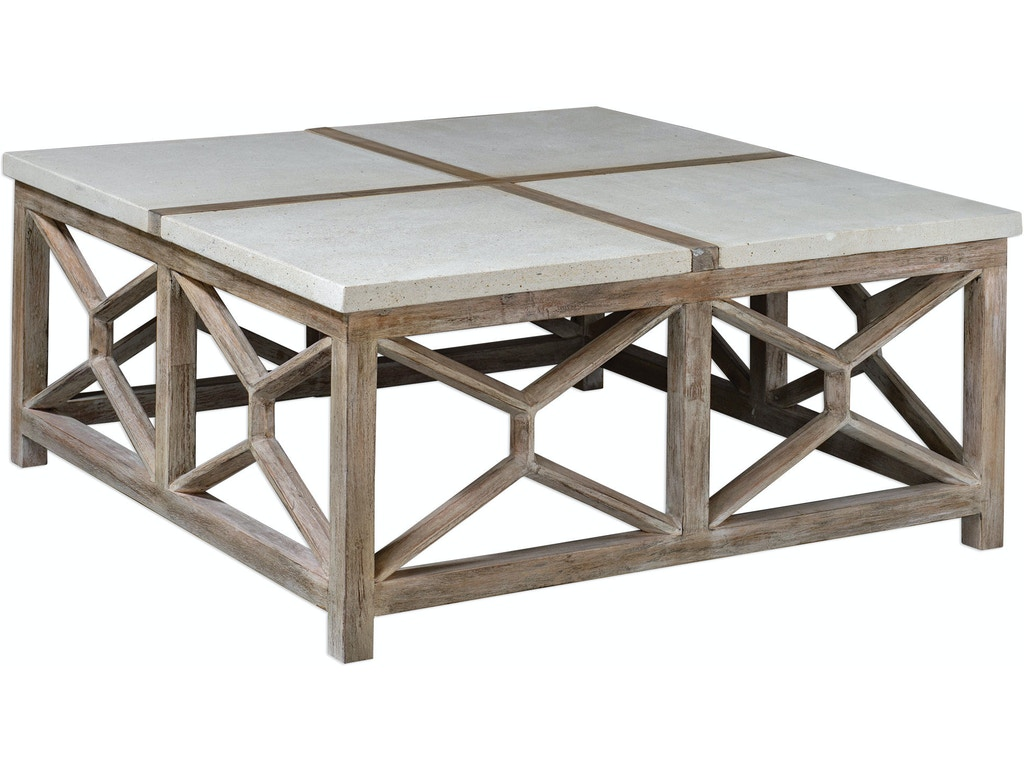 Outstanding Uttermost Living Room Catali Stone Coffee Table Ut25885 Walter E Smithe Furniture Design Caraccident5 Cool Chair Designs And Ideas Caraccident5Info