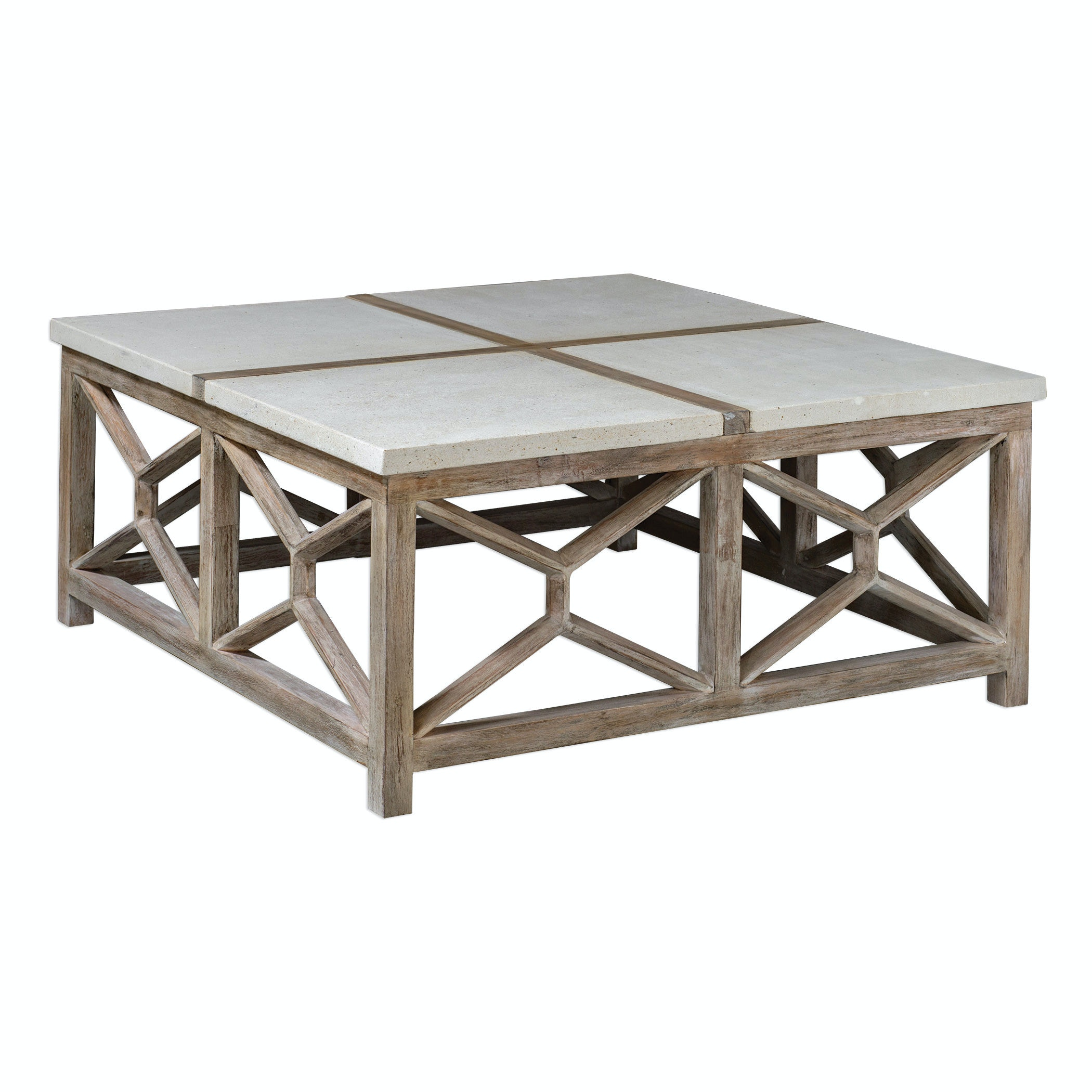 Incroyable Uttermost Catali Stone Coffee Table 25885