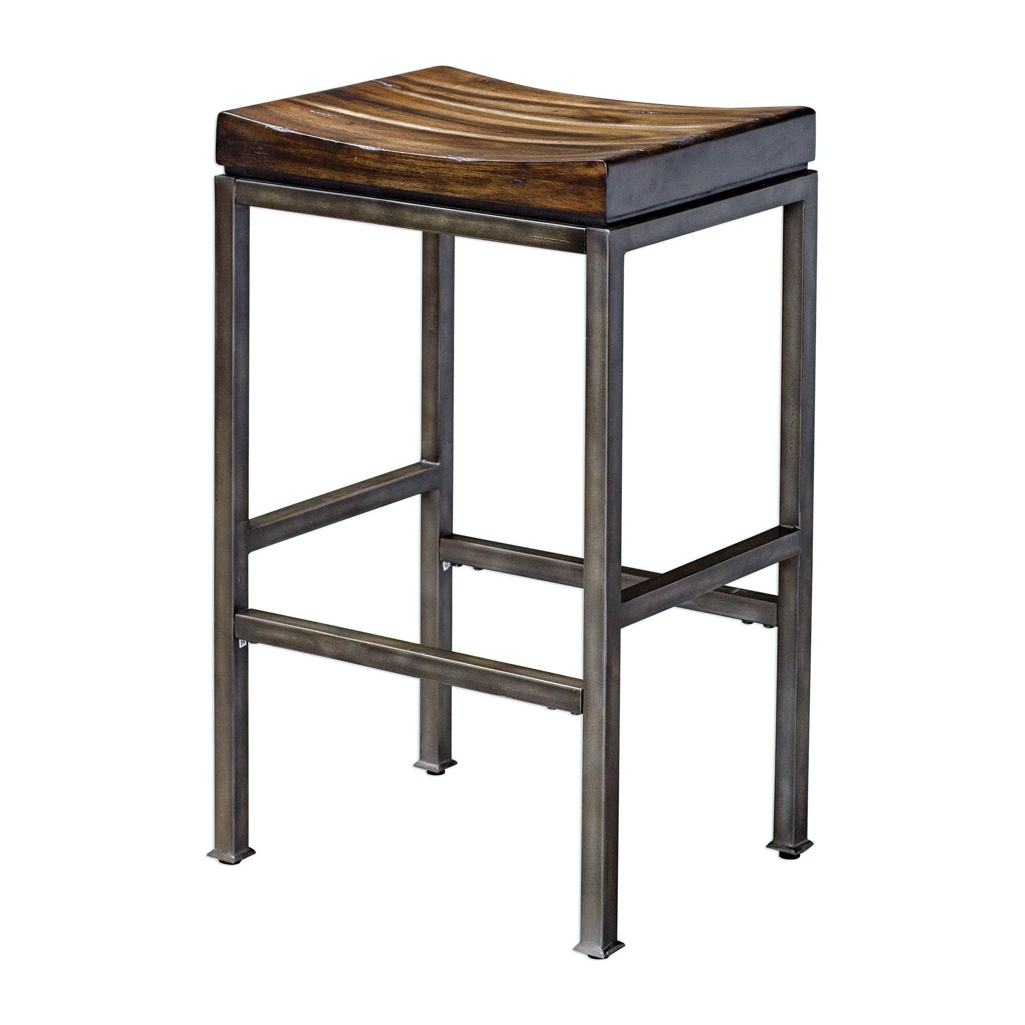Uttermost Beck Industrial Bar Stool UT25893 From Walter E. Smithe Furniture  + Design