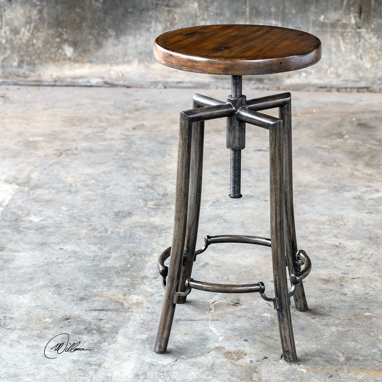 Sensational Uttermost 25898 Bar And Game Room Westlyn Industrial Bar Stool Cjindustries Chair Design For Home Cjindustriesco