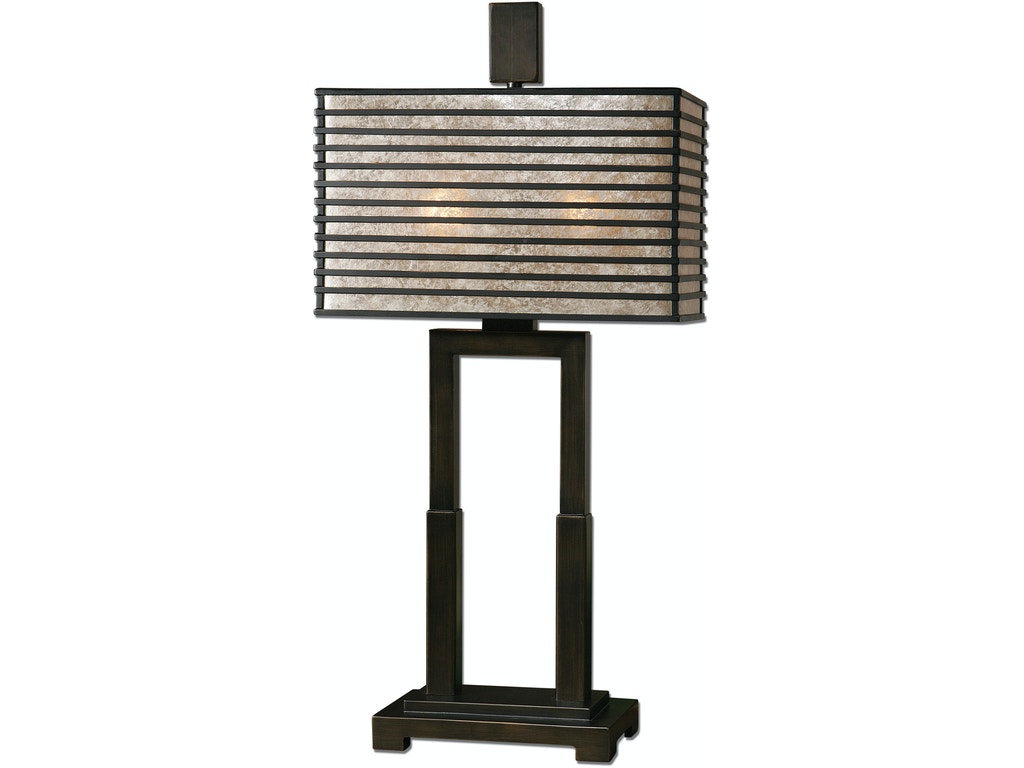 Uttermost lamps and lighting becton modern metal table for Home design zymeth aluminum table lamp