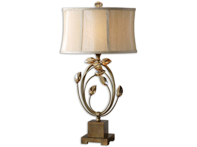 Uttermost Lamps And Lighting Alenya Gold Table Lamp 26337 1 Red