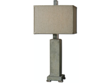 Uttermost Lamps And Lighting Risto Concrete Table Lamp