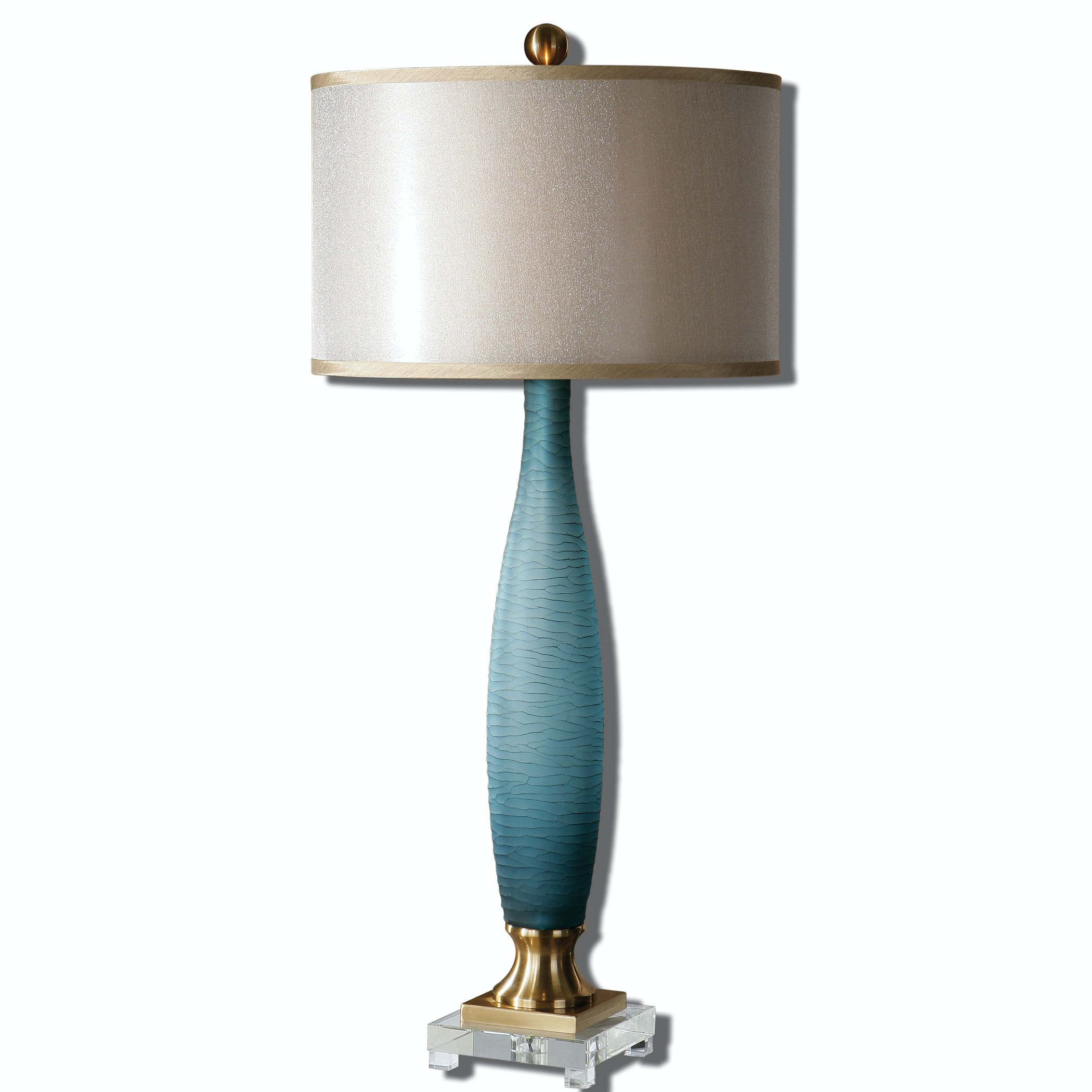 Uttermost Alaia Blue Glass Table Lamp 26582 1