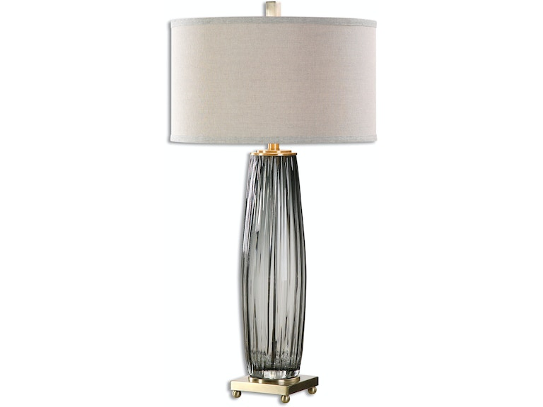Gray Table Lamps Inspiration Uttermost Lamps And Lighting Vilminore Gray Glass Table Lamp 6060