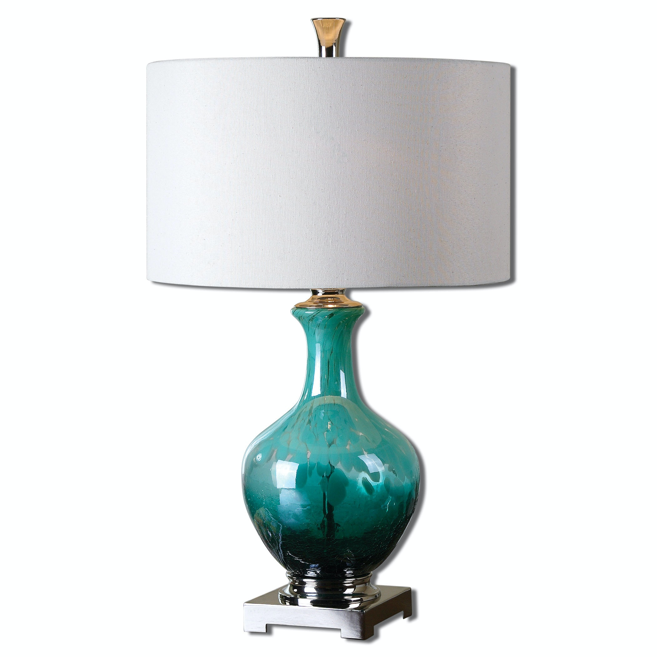 Uttermost Lamps And Lighting Yvonne Green Blue Glass Table Lamp