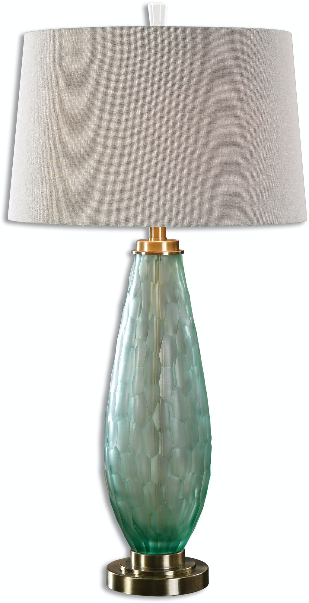 Uttermost Lamps And Lighting Lenado Sea Green Glass Table Lamp 27003
