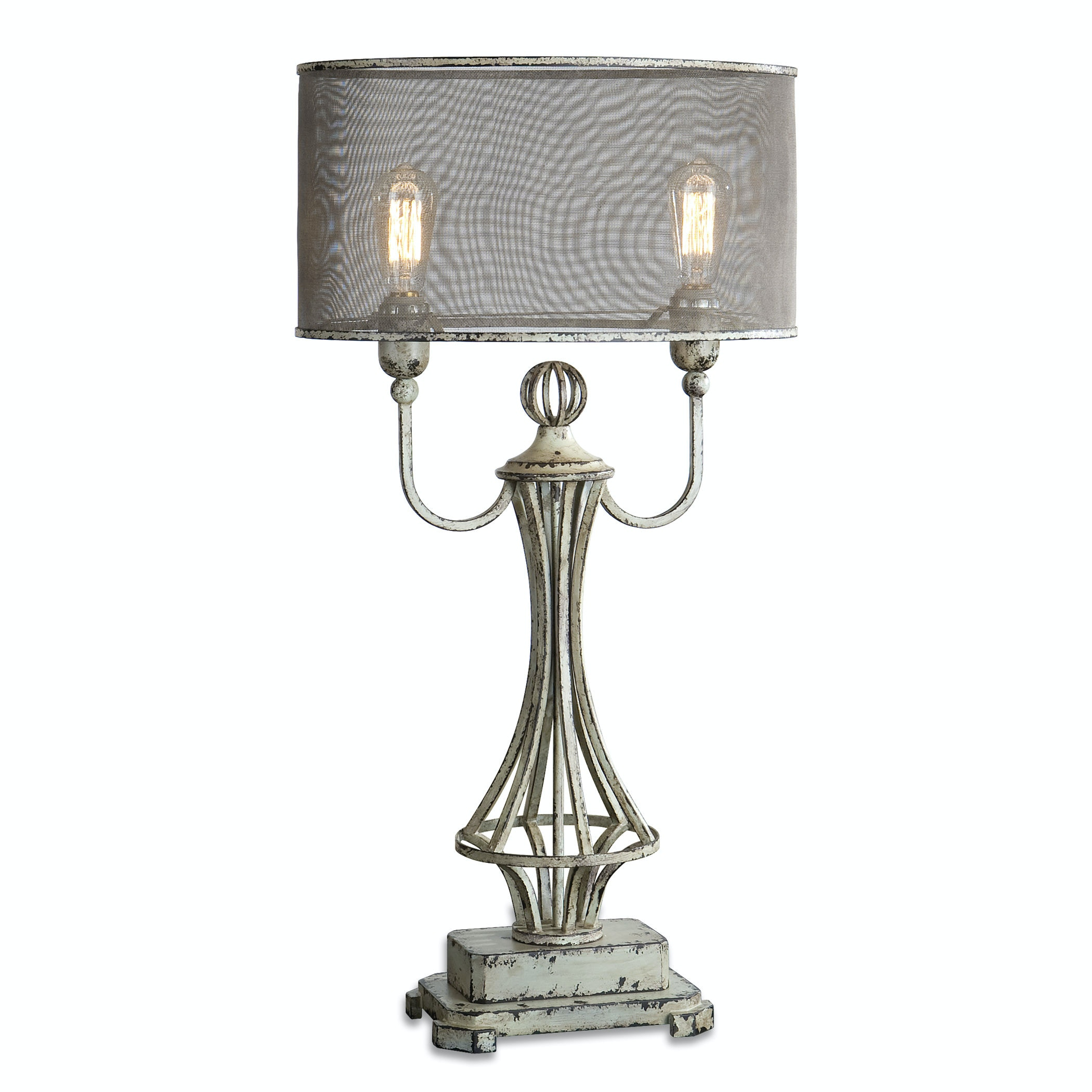 Uttermost Pontoise Aged Ivory Table Lamp 27008 1