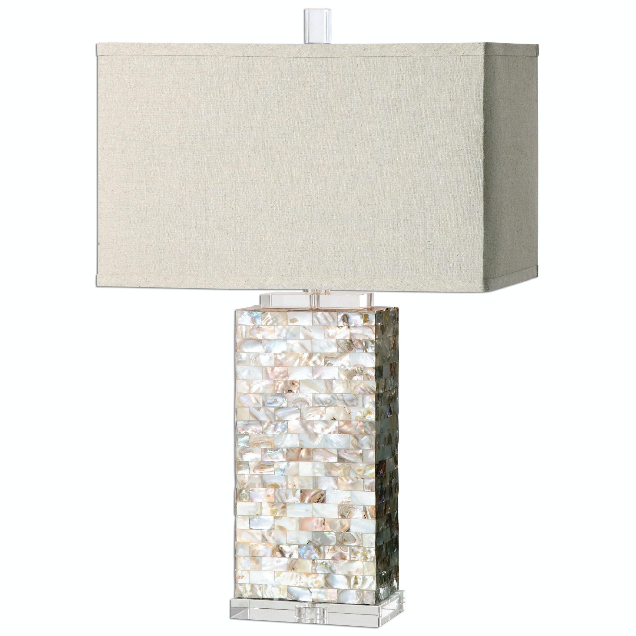 Uttermost Aden Capiz Shell Lamp UT270261 From Walter E. Smithe Furniture +  Design