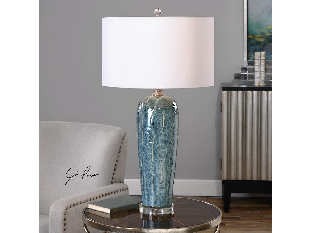 Uttermost Lamps And Lighting Maira Blue Ceramic Table Lamp