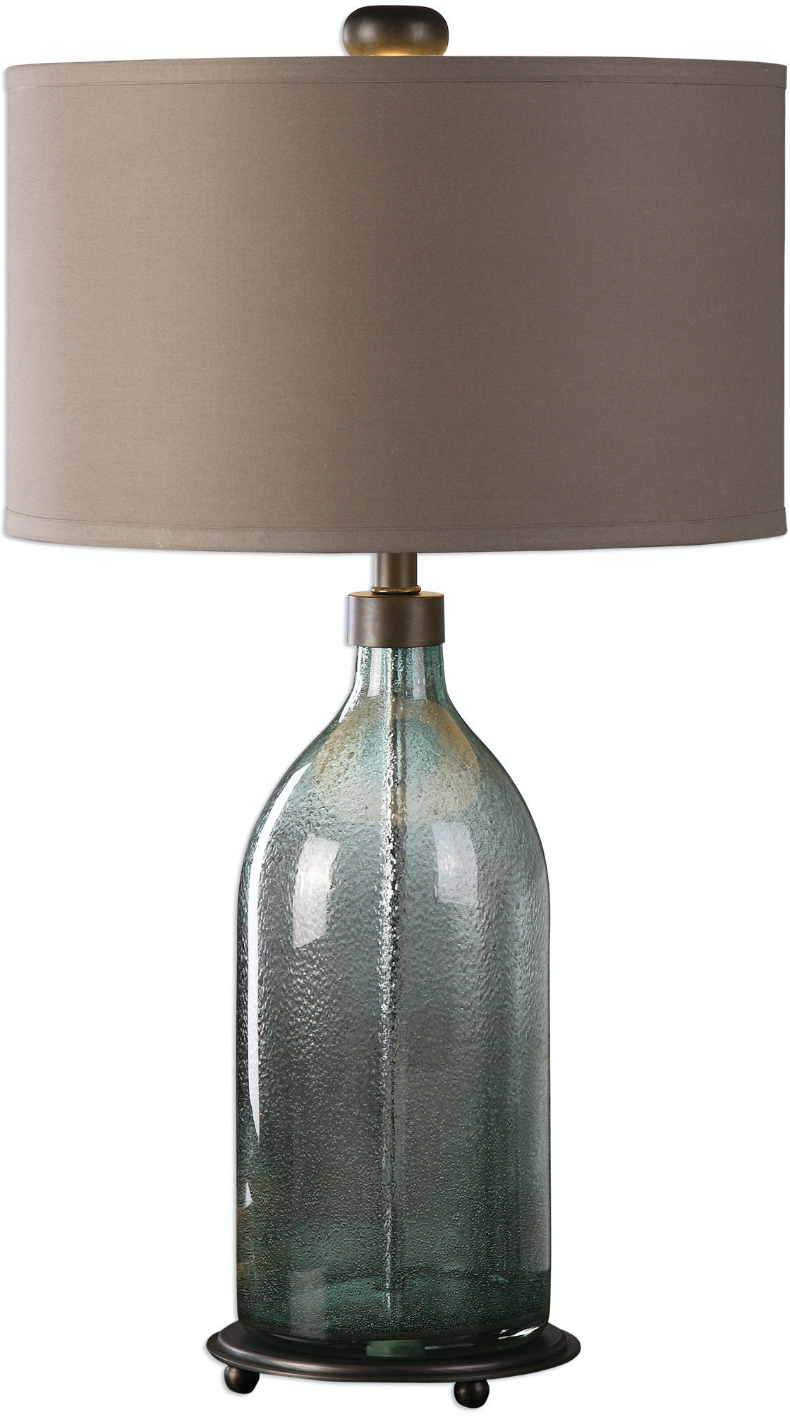 Uttermost Lamps and Lighting Massana Gray Glass Table Lamp
