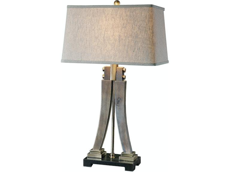 Uttermost Lamps And Lighting Yerevan Wood Leg Lamp 27220