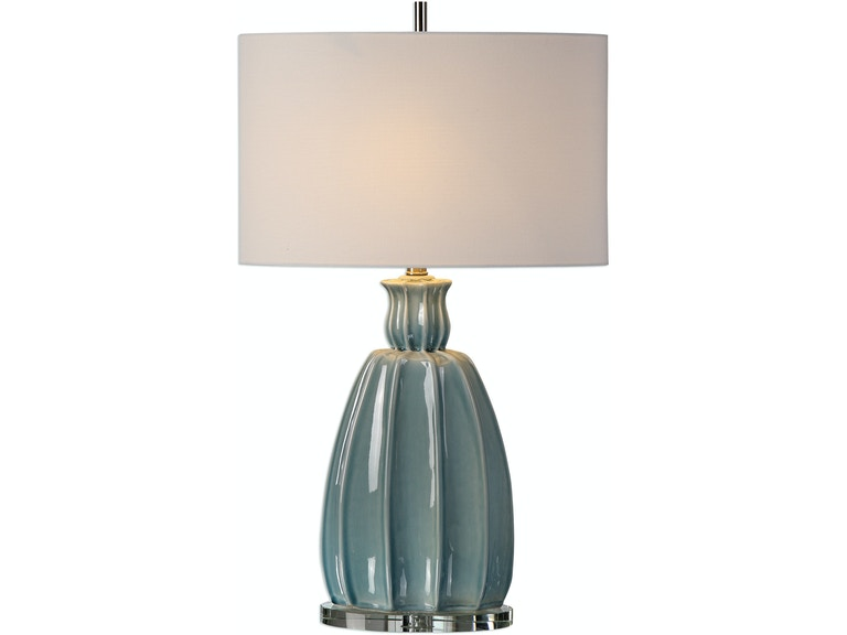 Uttermost suzanette sky blue ceramic lamp 27251
