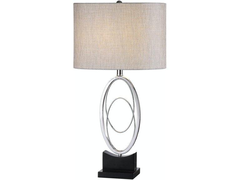 Uttermost lamps and lighting savant polished nickel table lamp uttermost savant polished nickel table lamp 27532 1 aloadofball