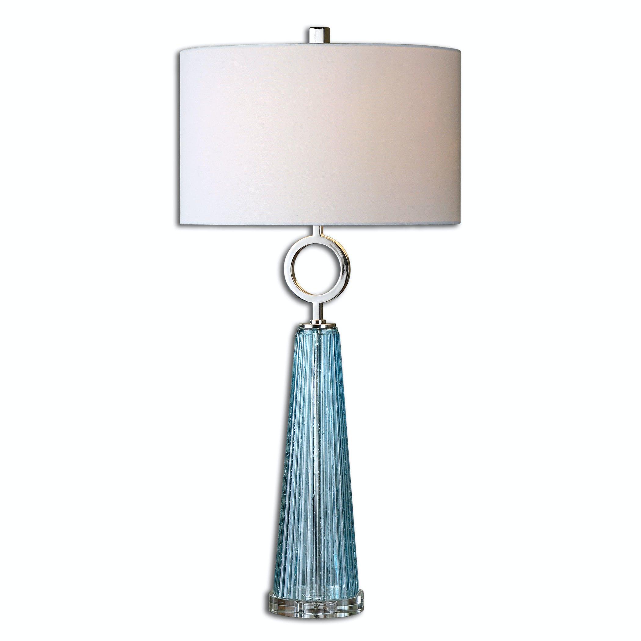 Navier Blue Glass Table Lamp Ut276981