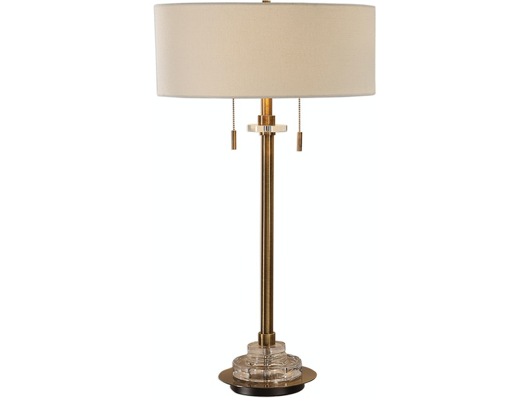 Uttermost Lamps And Lighting Harlyn Antique Brass Lamp