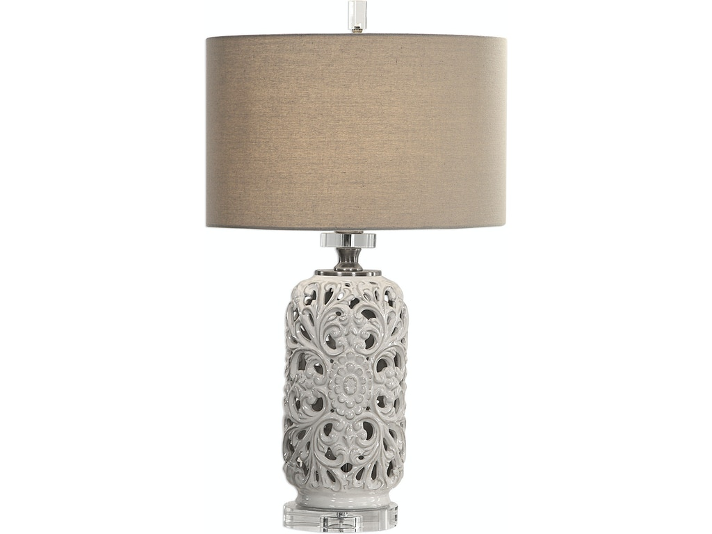 Uttermost Lamps And Lighting Dahlina Ceramic Table Lamp