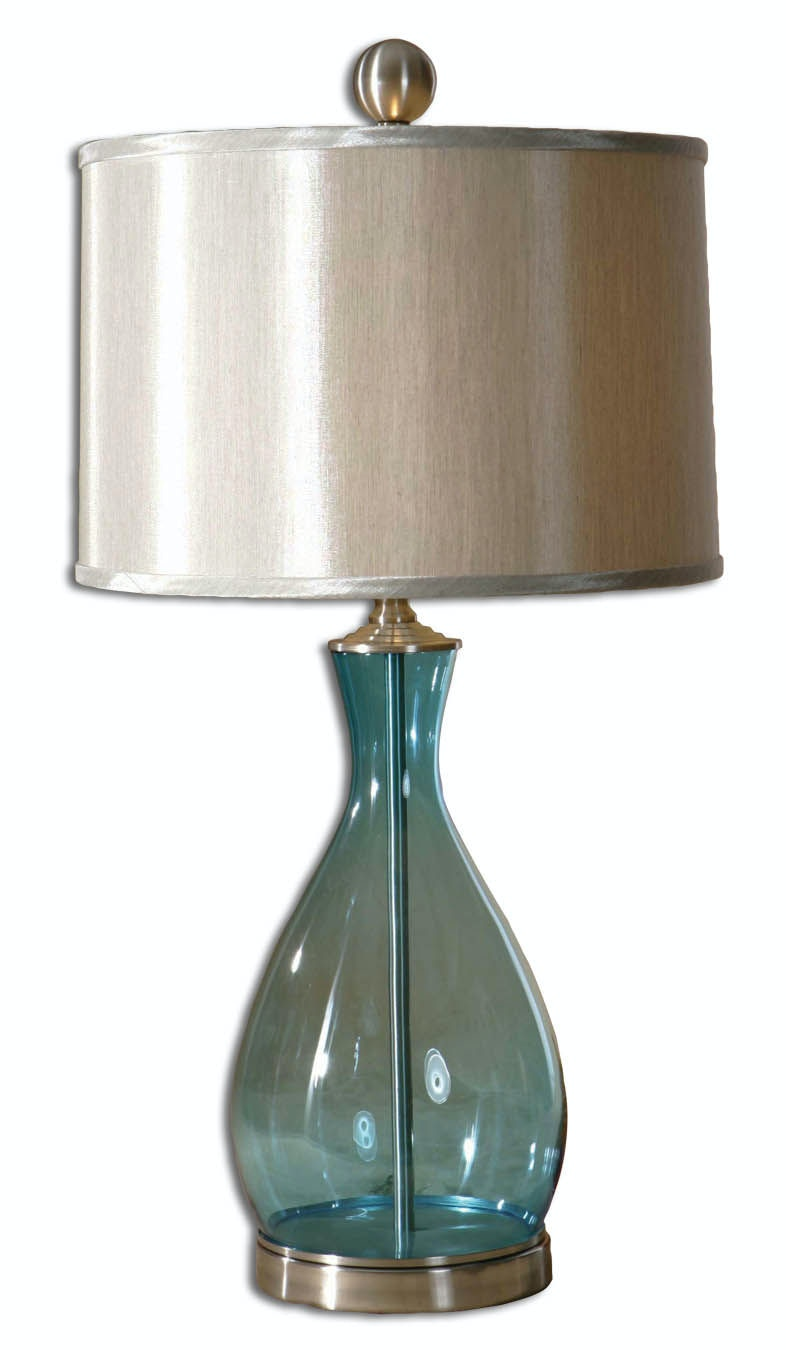 Uttermost Lamps And Lighting Meena Blue Glass Table Lamp 27862 1