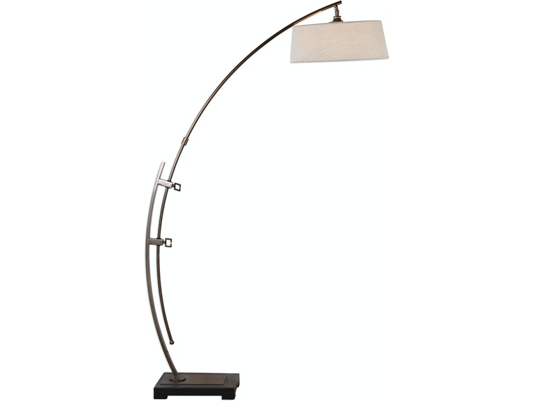 Uttermost Lamps And Lighting Calogero Bronze Arc Floor