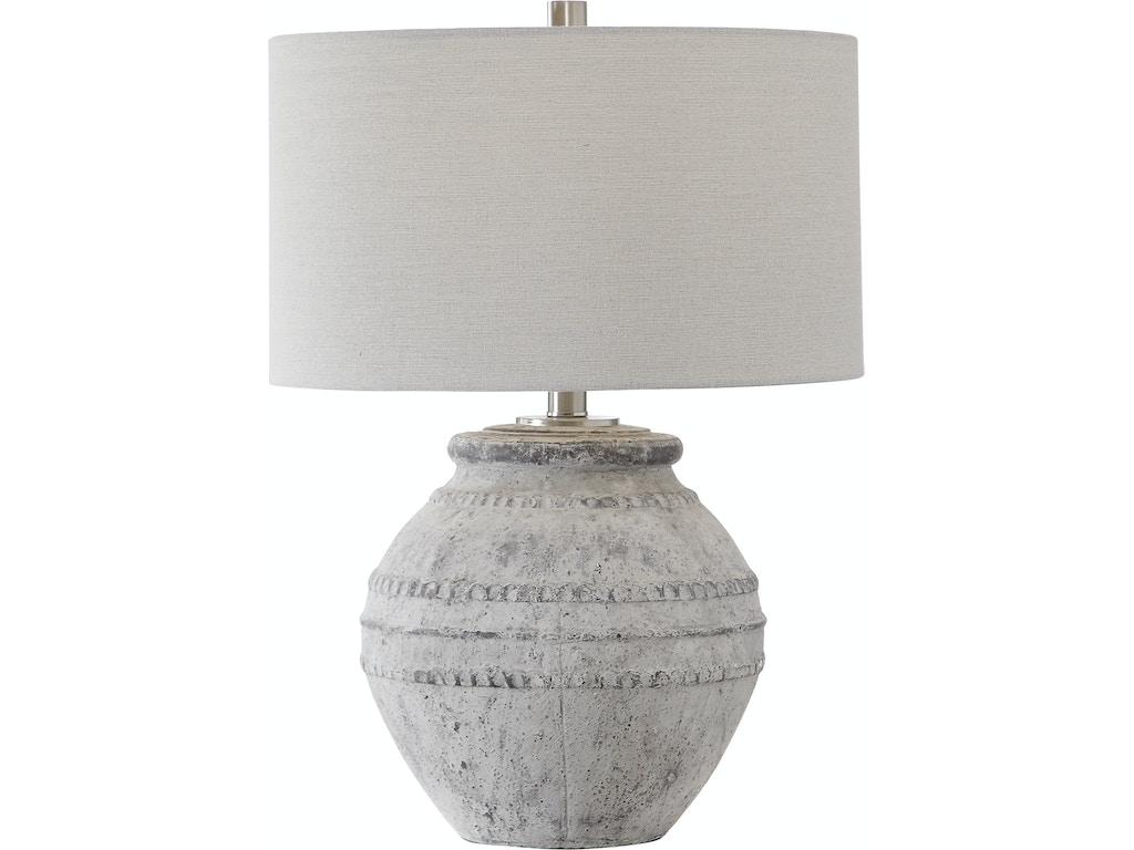 Uttermost Lamps And Lighting Montsant Stone Table Lamp Ut282121 Walter E Smithe Furniture Design