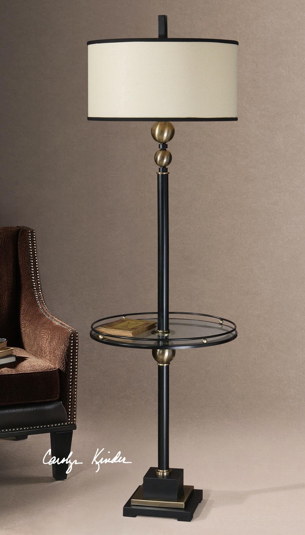 Attirant Uttermost Revolution End Table Floor Lamp UT285711 From Walter E. Smithe  Furniture + Design