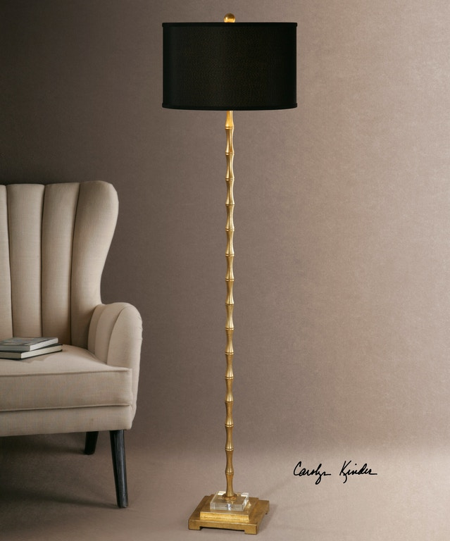 Uttermost Lamps and Lighting Quindici Metal Bamboo Floor Lamp