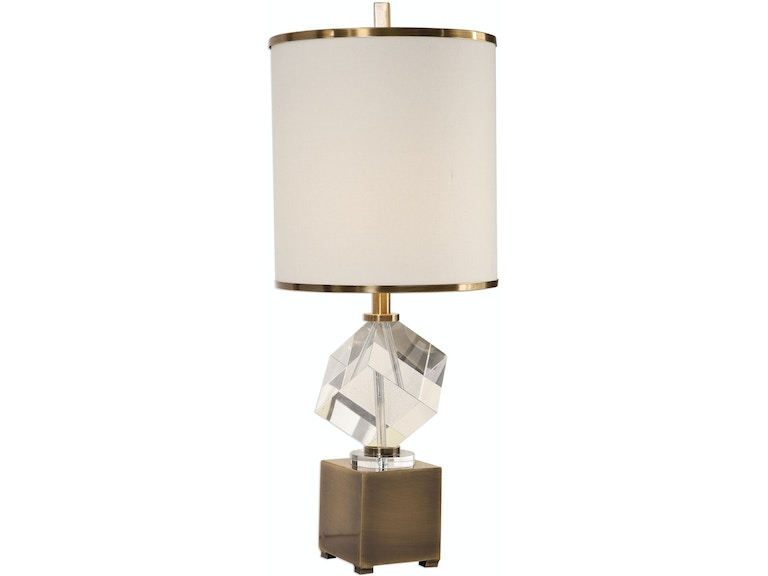 Uttermost lamps and lighting cristino crystal cube lamp 29619 1