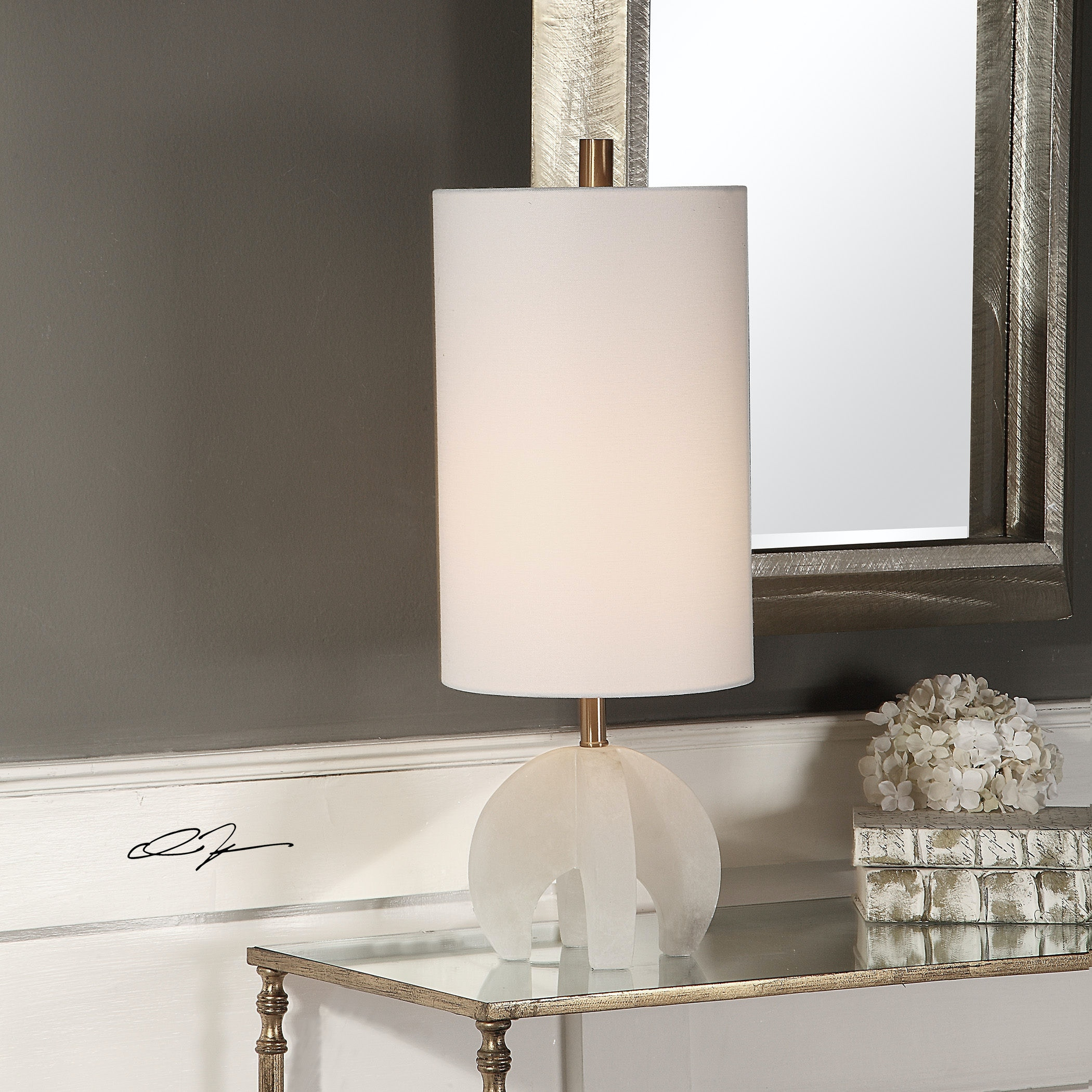 uttermost buffet lamps iron uttermost alanea white buffet lamp 296331