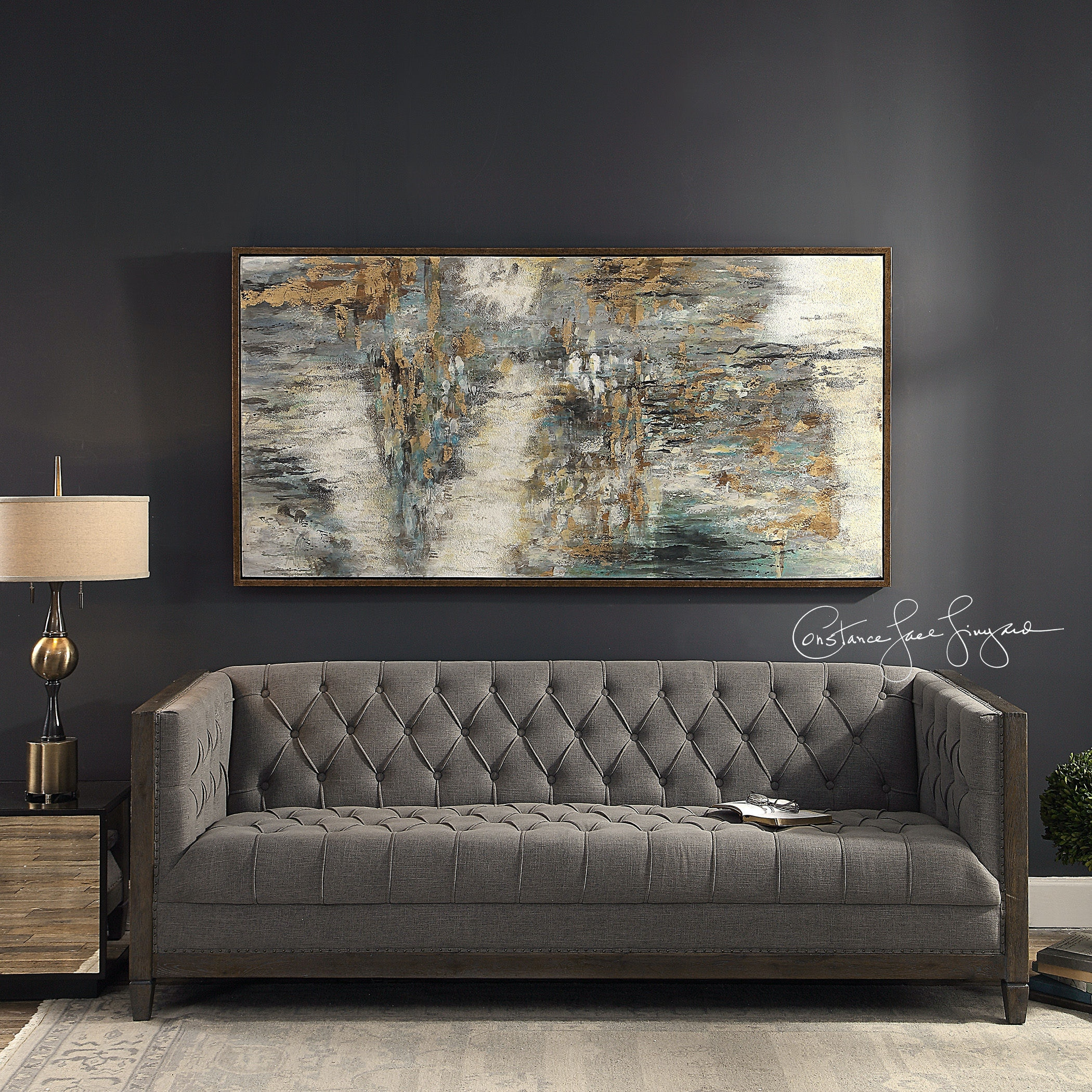 Uttermost Behind The Falls Abstract Art 31414