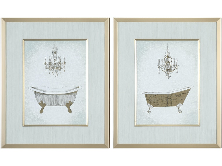 Uttermost Accessories Gilded Bath Prints S/2 33677 at Swann's Furniture