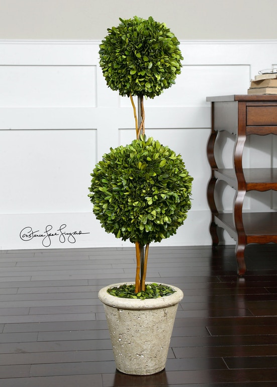 Uttermost Two Sphere Topiary Preserved Boxwood Ut60106 From Walter E Smithe Furniture Design