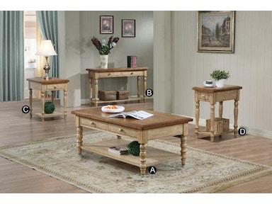 Winners Only Quails Run Almond/Wheat Coffee Table AQ100CW